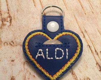 ALDI Quarter Keeper keyring