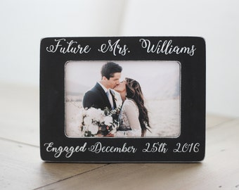 personalized engagement picture frame engagement gift engagement frame gift for couple engagement - Engagement Picture Frames