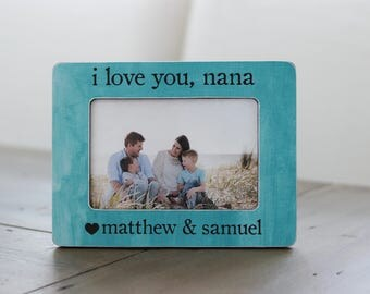 Personalized Gift for Nana | Grandma Nana Gift | Gift for Grandma | I Love You Nana Picture Frame Gift