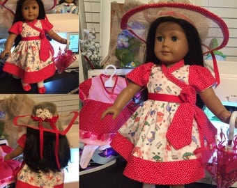 "Custom American Girl sized  18""  Easter dress"