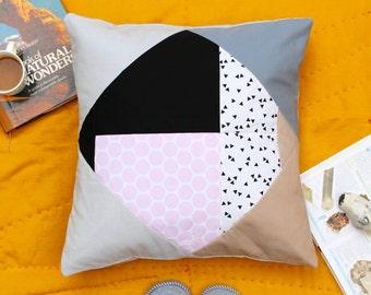 DIAMOND DAZZLER No.2 Stylish Geometric Quilted Pillow