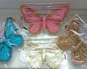 Crafting Canvas Butterflys Pink Blue Brown White Clearance Lace Rope