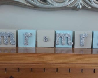Painted Wooden Name Blocks