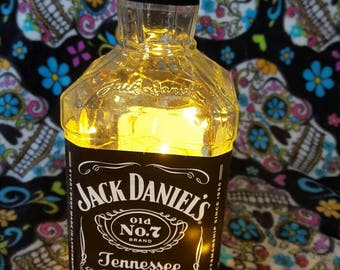 Jack Daniels Light Up Upcycled Bottle