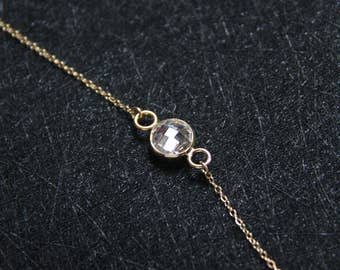 14k gold filled cz necklace