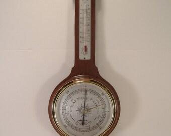 Vintage Airguide Thermometer, Barometer, Hygrometer Mid Century Banjo Weather Station