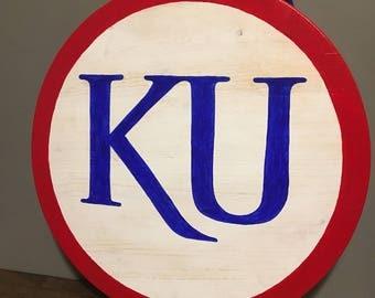 Large KU distressed board!