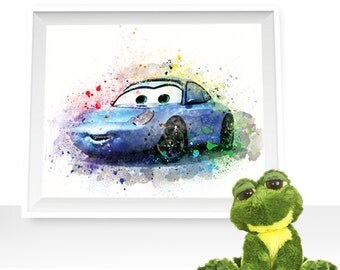 80%OFF Cars print, cars wall decor, Cars printable, Sally Carrera  print Sally watercolor, Sally art print, Sally printable, Cars watercolor
