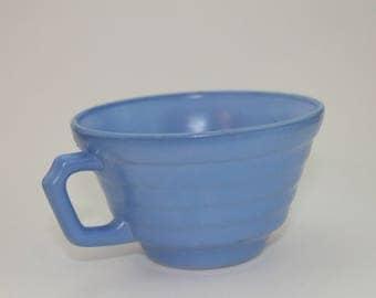 Vintage Hazel Atlas Moderntone Tea Cup Pastel BLUE