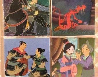 Disney Mulan Coasters-set of 4