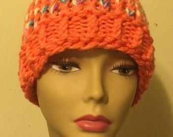 Mango and Multicolored Sloppy Bun Hat
