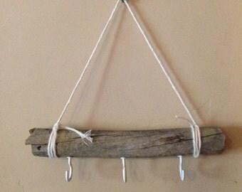 Driftwood jewelry rack / key rack / recycled key rack / recycled jewelry rack / necklace holder / recycled jewelry holder