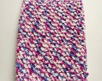 Handmade crochet tablet protective cover, sleeve, case 9 inch in vibrant colours