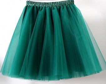 tutu, maxi skirt, tulle skirt, green dark green, green tulle skirt, tutu skirt, tutu skirt for women.