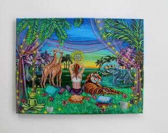Awake in a dream, ORIGINAL Acrylic painting, 40x30 cm canvas