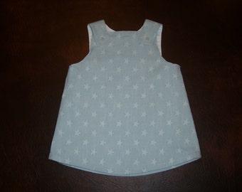 Hand Made Lined Cotton Dress - 12-18 months