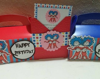 Thing 1 and thing 2 treat box, for party favors