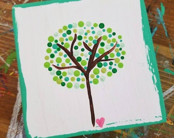 Mini tree painting