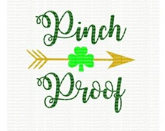 Pinch Proof SVG, cutting file, vinyl file, svg, st patricks, svg file, cameo file, cricut file, cricut design, st patricks cameo, patricks