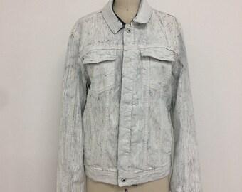 Calvin Klein waxed painted denim jacket