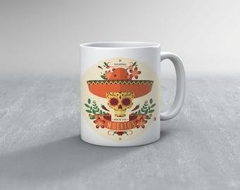Day OF The Dead Mug, Dia De Los Muertos, Day Of The Dead Gift, Dia De Los Muertos Gift (M143)