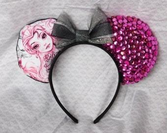 Belle Princess Sketch Disney Mickey Ears