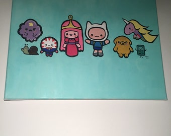 Adventure Time cute acrylic painting
