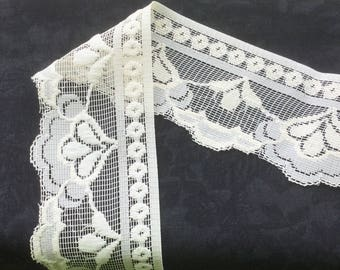 "Beige Lace trim 2 1/2"" wide"