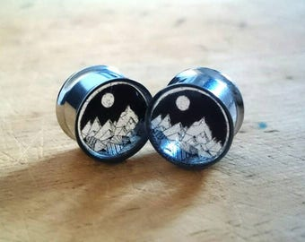 Mountain Clear Plugs (10mm, 12mm, 14mm, 16mm, 18mm, 20mm and more)