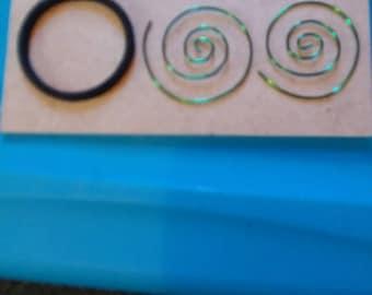 18  gauge Spiral hoop
