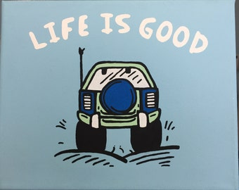 Life is Good Jeep Canvas