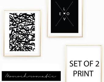 Kate Spade Inspired Monochromatic Chic Wallart Print