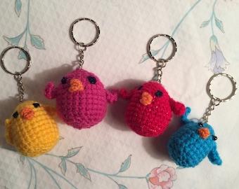 Crocheted Chick Keyrings