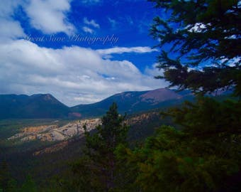 Tree by a Mountain, Photography, Home Decor