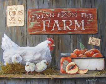 "Print ""Fresh From the Farm"""