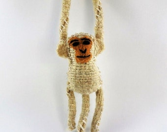 Handmade stuffed animal monkey (cream)