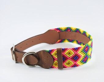 Bo Knitted Dog Collar L