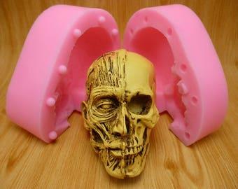 3D Skull Head Silicone Mold