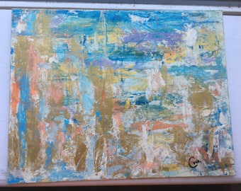 11x14 Multi-color Abstract Painting
