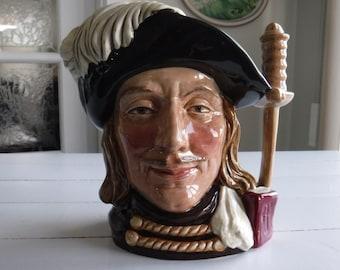 ROYAL DOULTON LARGE toby character jug aramis D6441, 1955 porcelain stein mug