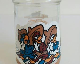 Welch's Jelly Jam Jar Three Caballeros Collectible Welchs Friendship Fiesta Glass