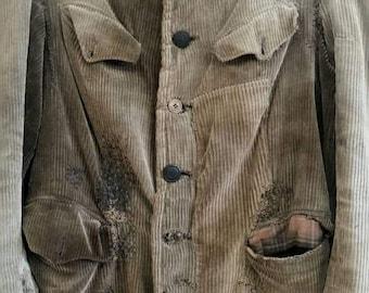 1930s French corduroy hunting jacket