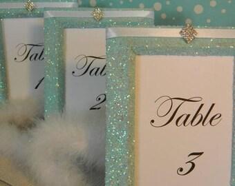 10 Glitter Frames  Picture Frames 5x7 Frames Wedding Frames Table Number Frames Table Number Holders Menu Frames, Frames, Tiffany, Tiffany &