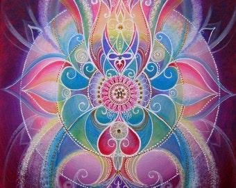 Confidence...Original handmade acrylic painting on canvas. Mandala Art