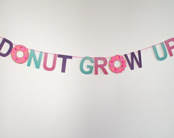 Donut Grow Up // Color Banner