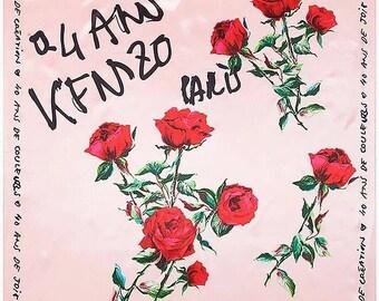 Rose Scarf Silk Scarf New Scarf 90cm * 90cm For Women, Birthday gift