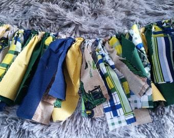 John Deere Fabric ragtie banner