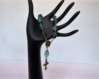 Shades of Blue Single Decade Rosary
