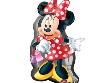SHIPS FAST - Minnie Mouse Birthday Balloon, Minnie Birthday Party, Minnie Mouse Party, Minnie and Mickey Party, Minnie Party Decorations