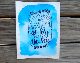 Where the Sky Meets the Sea Print